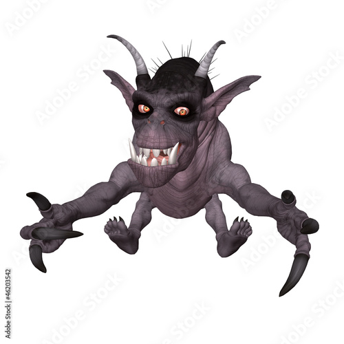 3D creature isolated on a white background