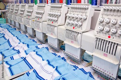 Leinwanddruck Bild sewing industry equipment