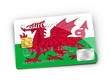 Credit Card covered with Wales flag.