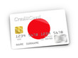 Credit Card covered with Japanese flag.