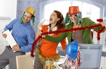 Festive new year office party