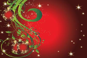 floral noel rouge