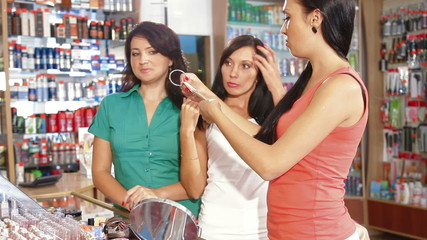 Choosing Tone of Hair Dye in Beauty Department