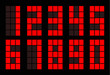 Red square digital number