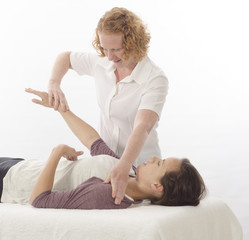 Kinesiologist treating Diaphragm