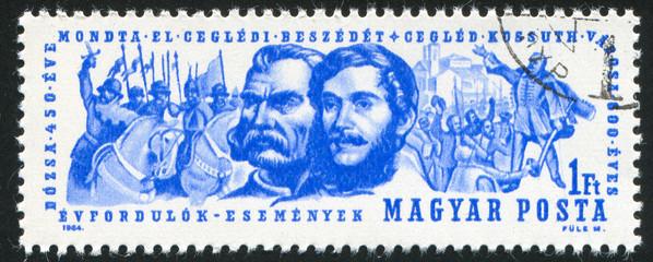 Lajos Kossuth and Gyorgy Dozsa