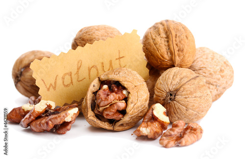 tasty walnuts, isolated on white