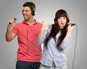 Couple Performing Song