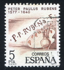 Rubens signature and palette
