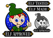 Elf Approved, Tested, Made Icon / Mark / Seal