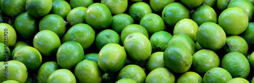 Lime fruits banner background