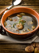 soup with chestnut and mushrooms