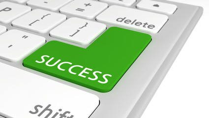 Success on green computer key