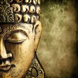 canvas print picture - golden Buddha