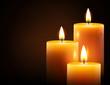 Leinwandbild Motiv Yellow candles