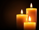 Yellow candles