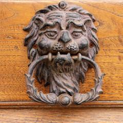 beautiful old door knocker in Tuscany