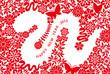 へび 2013 年賀状 紅白