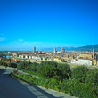 Florence aerial skyline. Panorama view from Michelangelo park sq