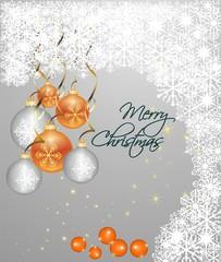 Orange spheres, Christmas