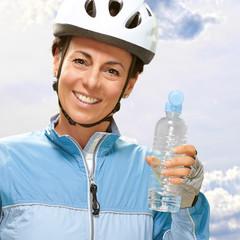 Women Hold Bottle