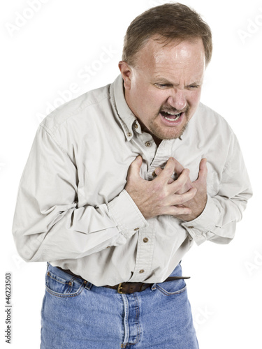 heart attack sign old man