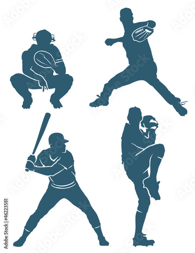 Baseball positions - vector illustration