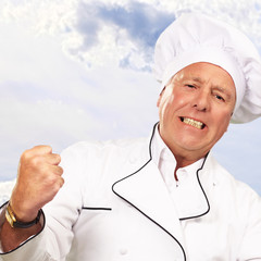 Portrait Of Angry Chef