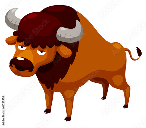 illustration of cartoon bull Vector