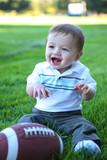 Cute Baby with Football