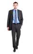 Full length businessman isolated on white