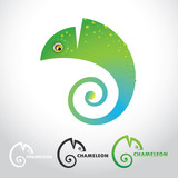 Chameleon - vector illustration