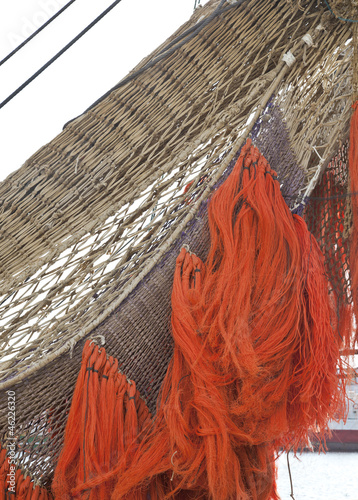 Close up of detailed fishing net