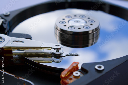 hdd close up