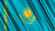 Kazakhstan Flag looping animation