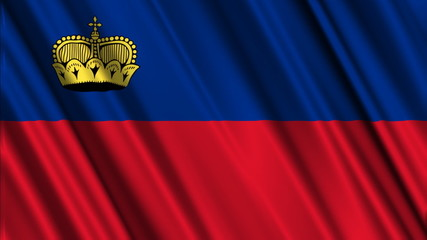Liechtenstein Flag looping animation