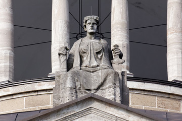 Lady Justice atop a Court Building