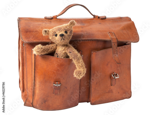 Briefcase and Teddy Bear