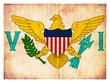 Grunge-Flagge Amerikanische Jungferninseln (USA)
