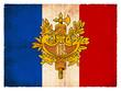 Grunge-Flagge Frankreich