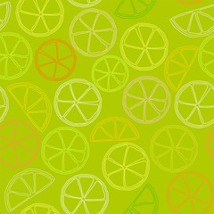 citrus outline seamless pattern