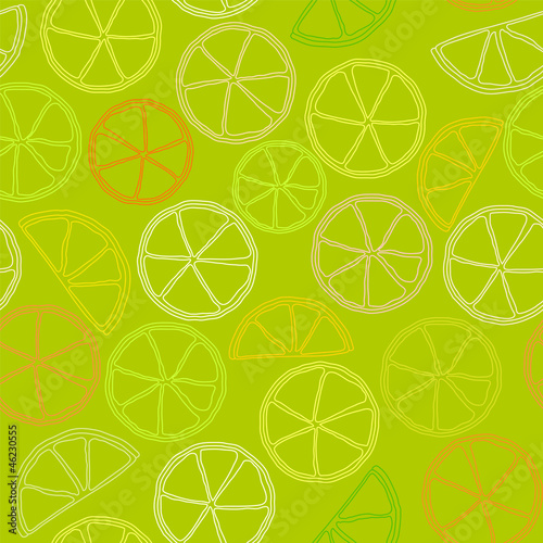 citrus outline seamless pattern