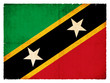 Grunge-Flagge Saint Kitts and Nevis