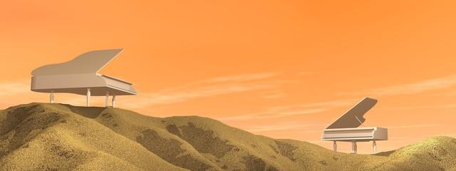 Pianos in the desert