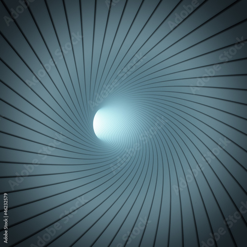 Abstract spiral tunnel