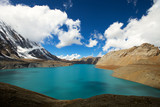 high altitude beautiful blue lake