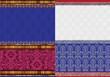 Indian Sari Borders, detailed and easily editable