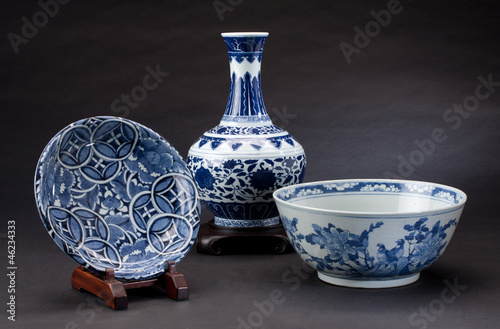 Leinwandbild Motiv Ancient chinese porcelains for collectible