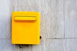 Yellow postbox poster