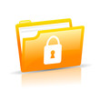 Vector data security icon